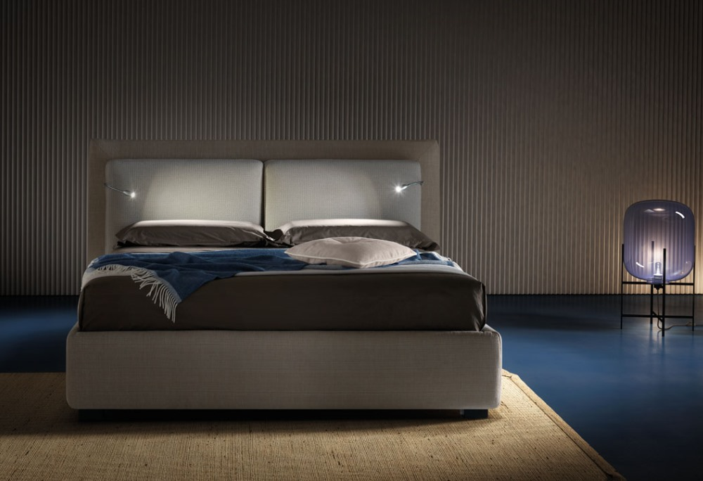 letto con luci led bombay letto design moderno sofa club